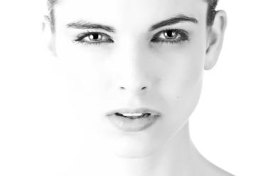 tvár modelky
