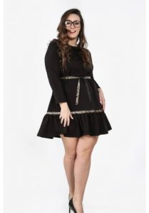 fasardi šaty čierne elegantné krátke