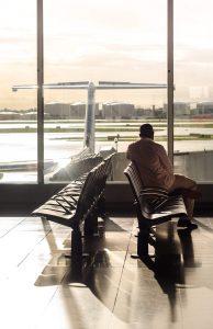 čakanie na letisku
